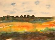 Landschaft 2015, Aquarell, Kunst, Art, Malerei