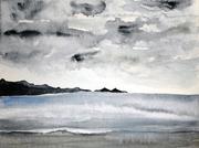 Aquarell, Kunst, Art, Malerei, Landschaft, Meer