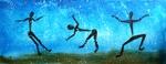 Raindancers 2010, Acryl, Kunst, Art, Malerei