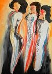 Drei Grazien aus Graz 2011, Acryl, Kunst, Art, Malerei